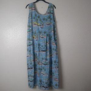 Reyn Spooner Eddy Y Beach Print Dress. XL